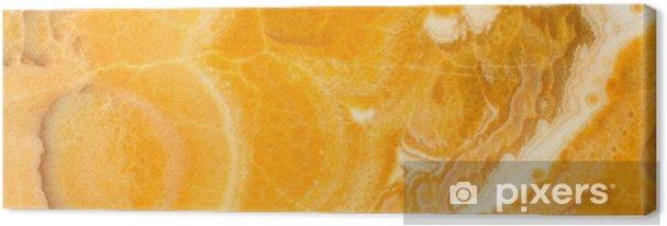 Obraz na płótnie Tło kamień wysokiej rozdzielczości. onyks lub żółty marmur. obraz panoramiczny. może być stosowany do skinali kuchennych. - Zasoby graficzne