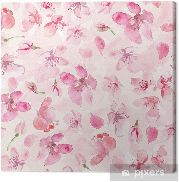 Obraz na płótnie Tło kwiat sakura - Rośliny i kwiaty