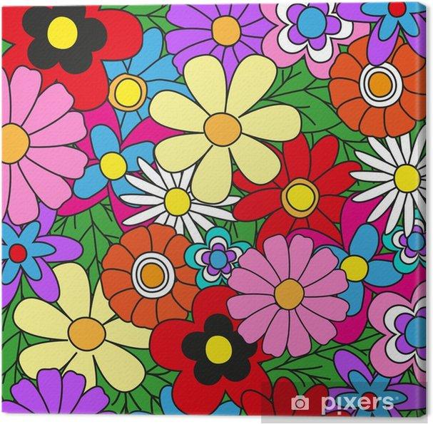 Obraz na płótnie Tło kwiatowe - Kwiaty