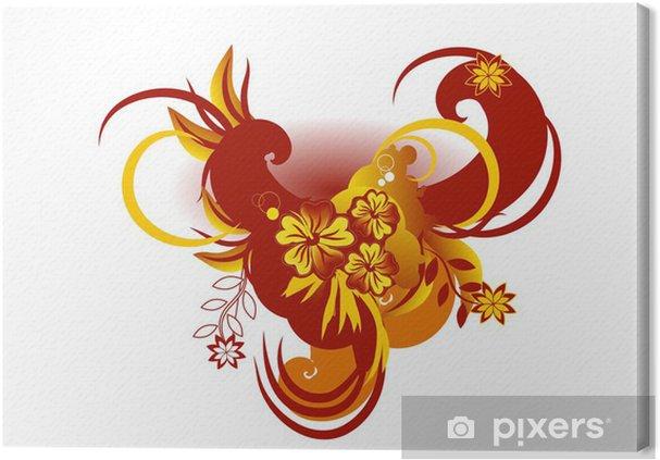 Obraz na płótnie Tło kwiatowe - Znaki i symbole