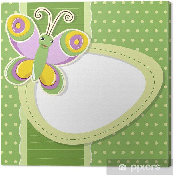 Obraz na płótnie Tło motyl - umieść tekst - Tła