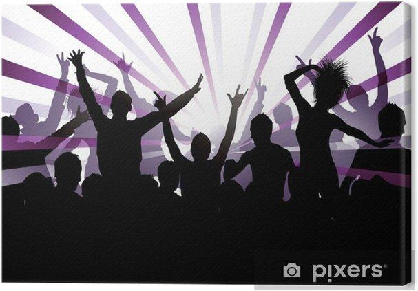 Obraz na płótnie Tło muzyczne - Grupy i tłumy