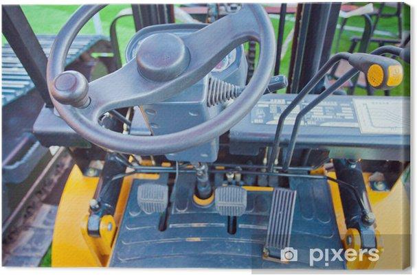Obraz na płótnie Tło tablicy przyrządów w kabinie - Rolnictwo