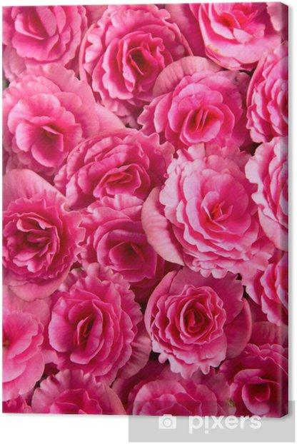Obraz na płótnie Tło z kwiatów róż - Tekstury