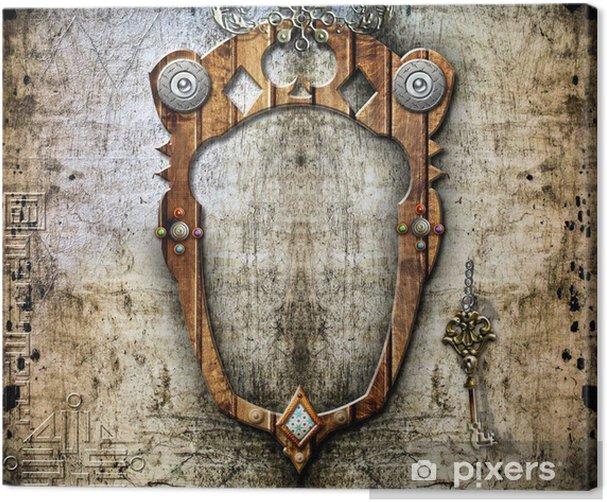 Obraz na płótnie Tło z muru i okna - Ezoteryka
