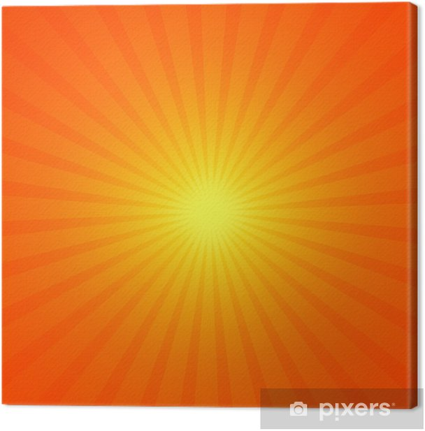 Obraz na płótnie Tło z pomarańczowym promieni - Tła