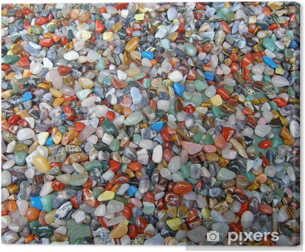 Obraz na płótnie Tło z wielu kamieni półszlachetnych - Tematy