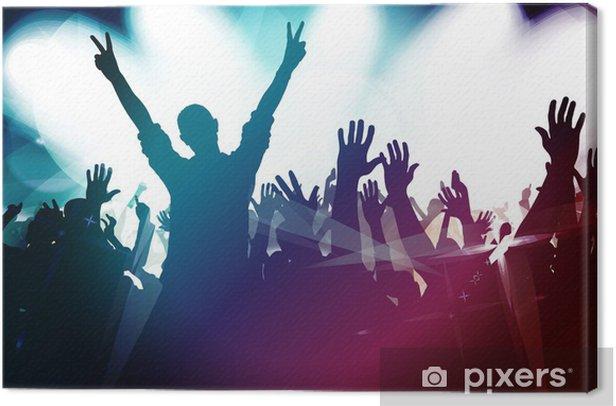 Obraz na płótnie Tłum imprezowiczów - Rozrywka