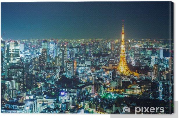 Obraz na płótnie Tokyo Skyline w nocy -
