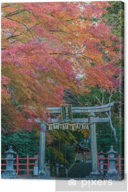 Obraz na płótnie Torii Shiogama Sanktuarium jesienią - Azja