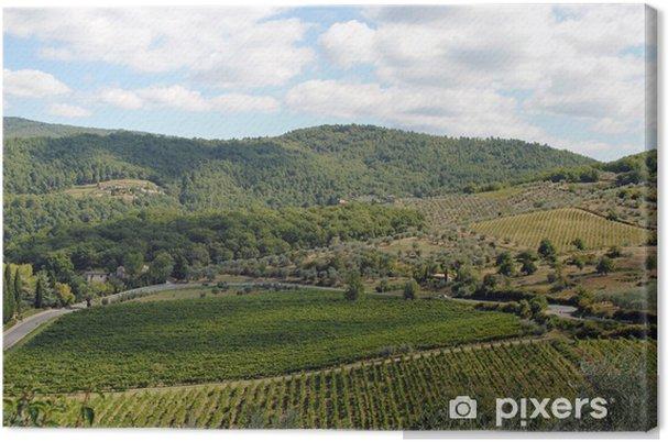Obraz na płótnie Toskania - winnice - Wakacje