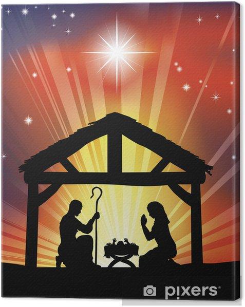 Obraz na płótnie Tradycyjne Boże Narodzenie Szopka Christian - Budynki i architektura
