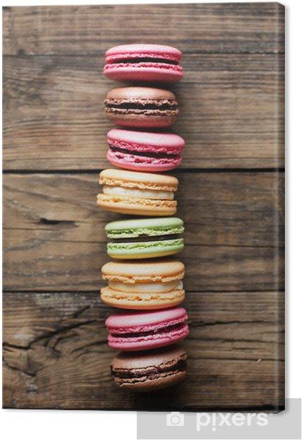 Obraz na płótnie Tradycyjne francuskie kolorowe macarons - Tematy