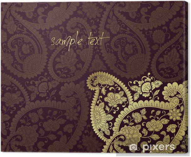 Obraz na płótnie Tradycyjny Paisley kwiatowy wzór, szablon, Royal India - Style