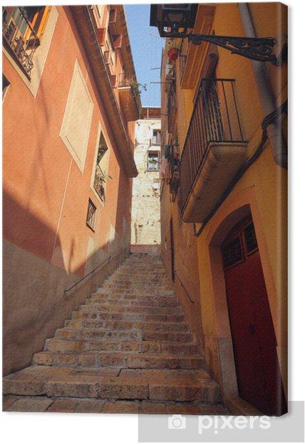 Obraz na płótnie Tradycyjny stary hiszpański street - Europa