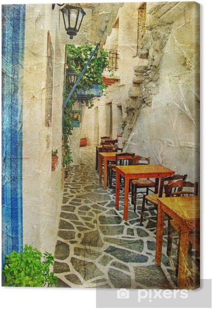 Obraz na płótnie Tradycyjnych greckich tawern. artystyczny obraz - Tematy
