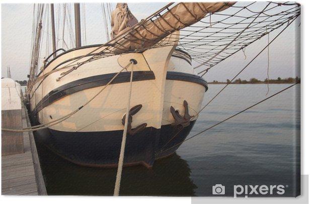 Obraz na płótnie Tradycyjnych łodzi żaglowych w drewniane niedziela wieczór - Wakacje