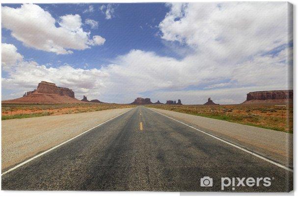 Obraz na płótnie Trasa 66 vers Monument Valley, Arizona - Ameryka