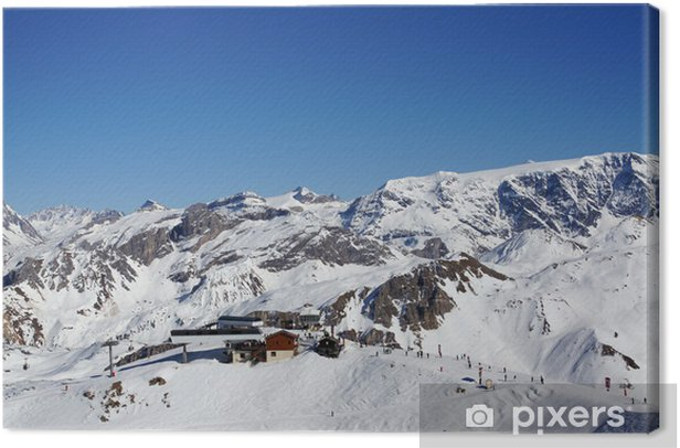 Obraz na płótnie Trois Vallées w Alpach - Europa