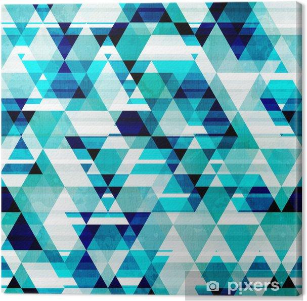 Obraz na płótnie Trójkąt szwu wzór kryształ - Tła