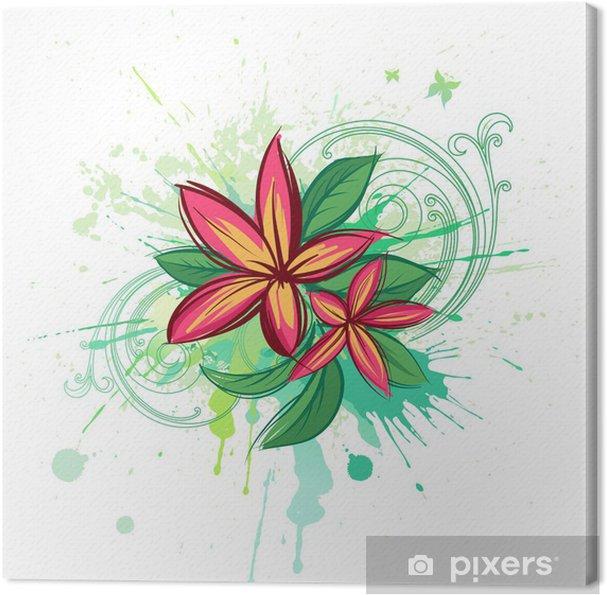 Obraz na płótnie Tropical abstrakcyjne tło - Kwiaty