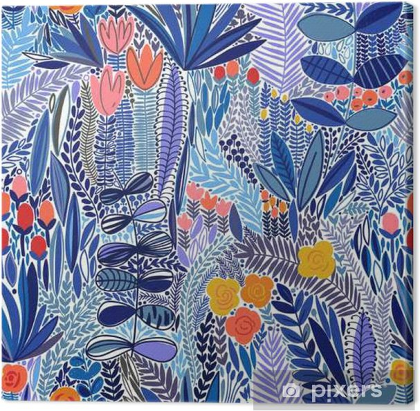 Obraz na płótnie Tropical szwu kwiatowy wzór - Rośliny i kwiaty