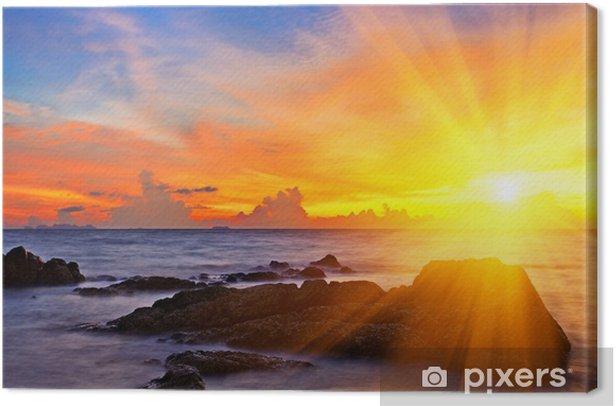 Obraz na płótnie Tropikalna kolorowe słońca - Niebo