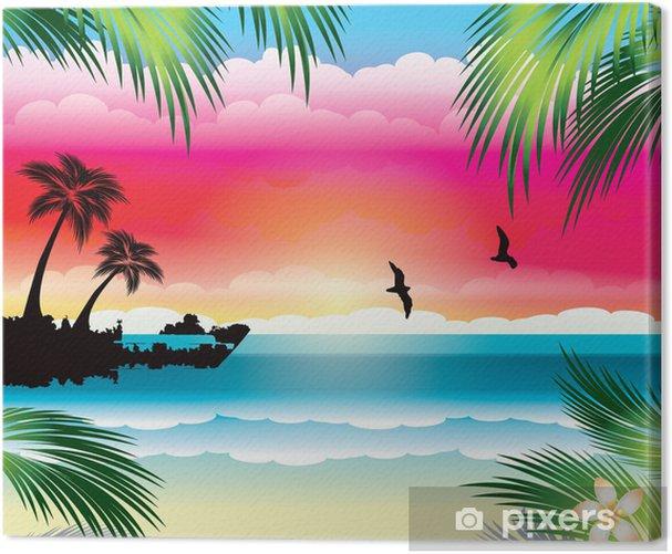 Obraz na płótnie Tropikalna plaża - Wakacje