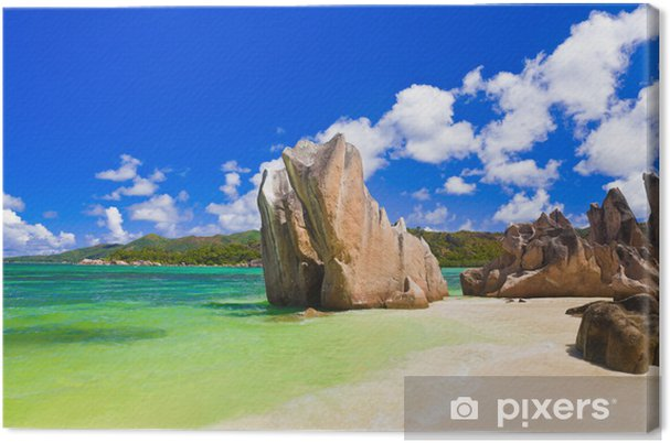 Obraz na płótnie Tropikalna plaży na Seszelach - Wakacje