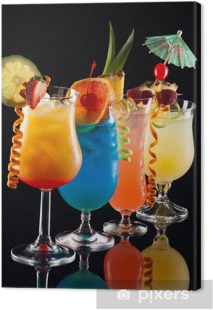 Obraz na płótnie Tropikalne drinki - Najpopularniejsze koktajle serii - Posiłki