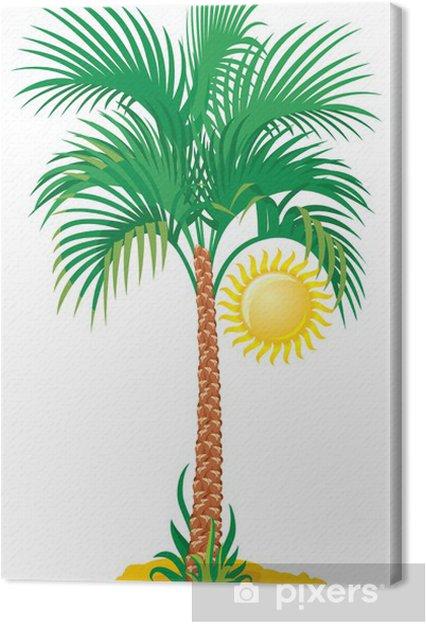 Obraz na płótnie Tropikalne palmy - Naklejki na ścianę