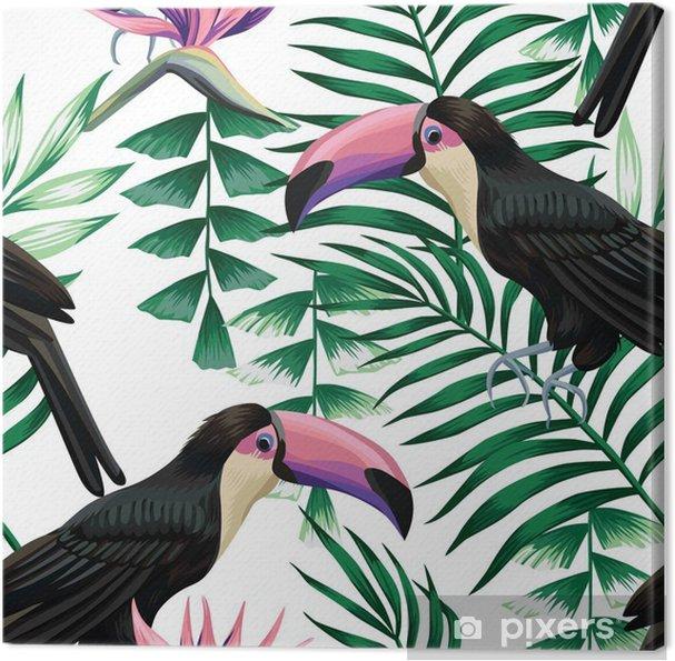 Obraz na płótnie Tropikalny Tukan wzór - Zwierzęta