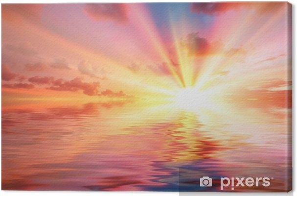 Obraz na płótnie Tropikalny zachód słońca - Niebo
