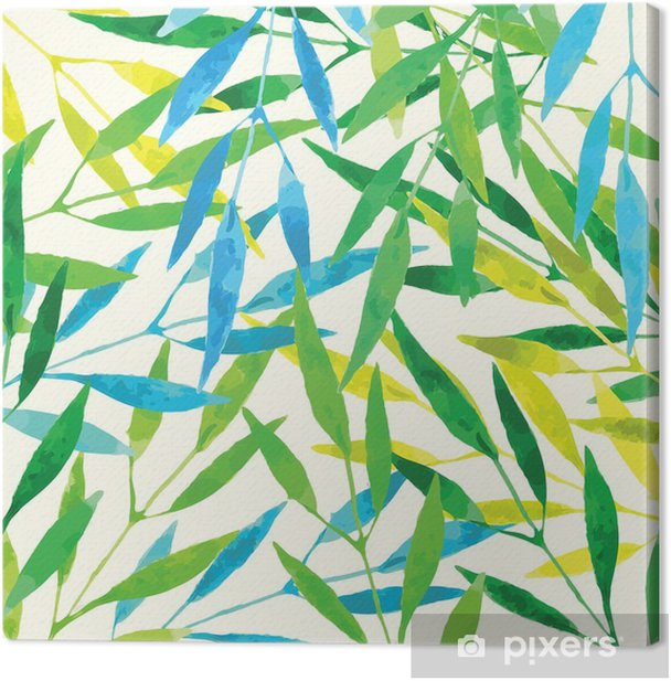 Obraz na płótnie Tropikalnych liści - akwarela imitacja - Zasoby graficzne