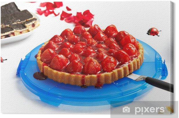 Obraz na płótnie Truskawka tort babci - Świętowanie