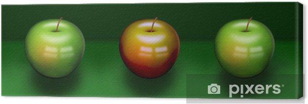 Obraz na płótnie Trzy jabłka - Owoce