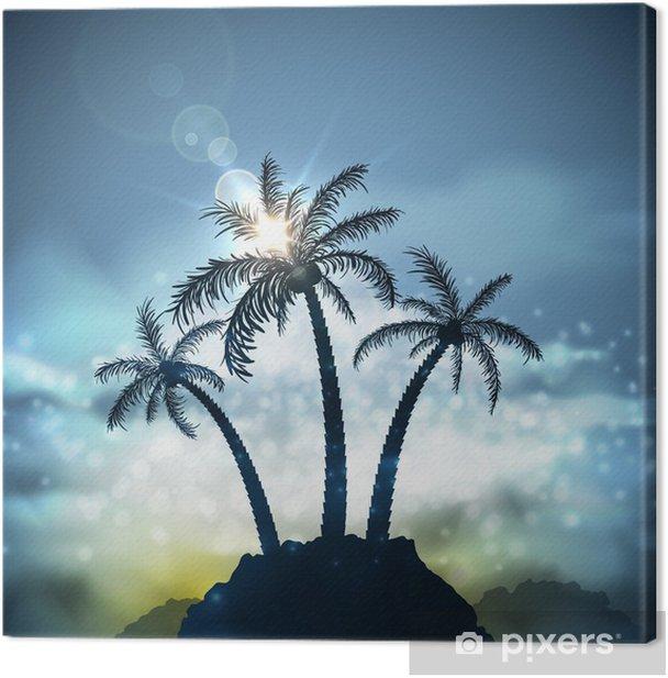 Obraz na płótnie Trzy palmy - Palmy