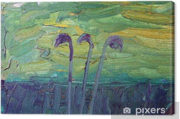 Obraz na płótnie Trzy pojedyncze łodygi - Sztuka i twórczość