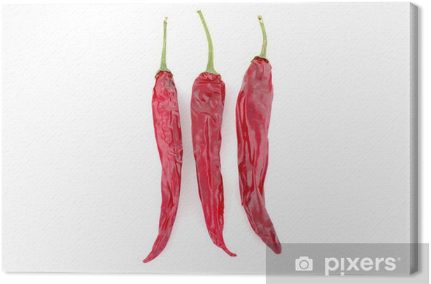 Obraz na płótnie Trzy suszone papryczki chili - Przyprawy i zioła