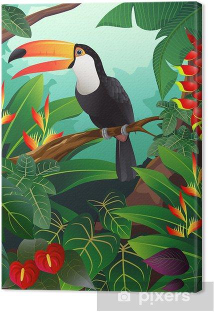 Obraz na płótnie Tukan ptak -