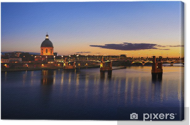 Obraz na płótnie Tuluzy w czasie zachodu słońca - Europa