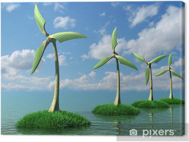 Obraz na płótnie Turbina wiatrowa - Krajobraz wiejski