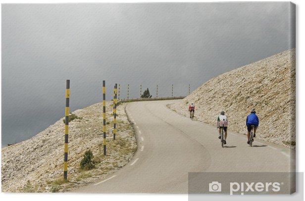 Obraz na płótnie Turystyka rowerowa na Mont Ventoux. Prowansja. Francja. - Krajobraz wiejski