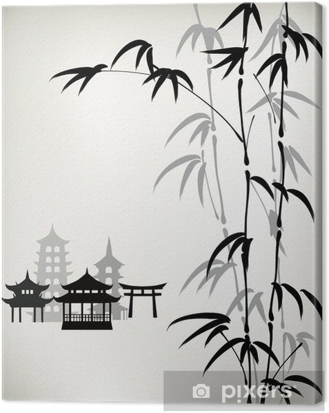 Obraz na płótnie Tusz malowane bambusa - Sztuka i twórczość