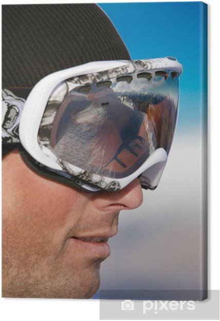 Obraz na płótnie Twarz strzał snowboarder nosi okulary - Profil - Oceania