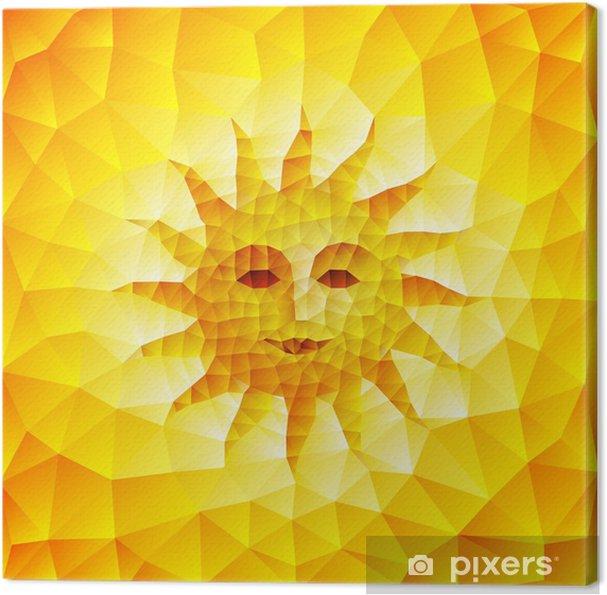 Obraz na płótnie Twarz Sun - Abstrakcja