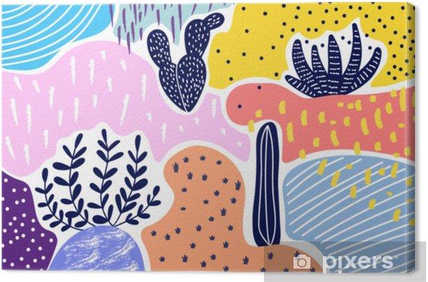 Obraz na płótnie Twórczy geometryczne kolorowe tło z wzorami. kolaż. projekt do wydruków, plakatów, kart itp wektor. - Zasoby graficzne