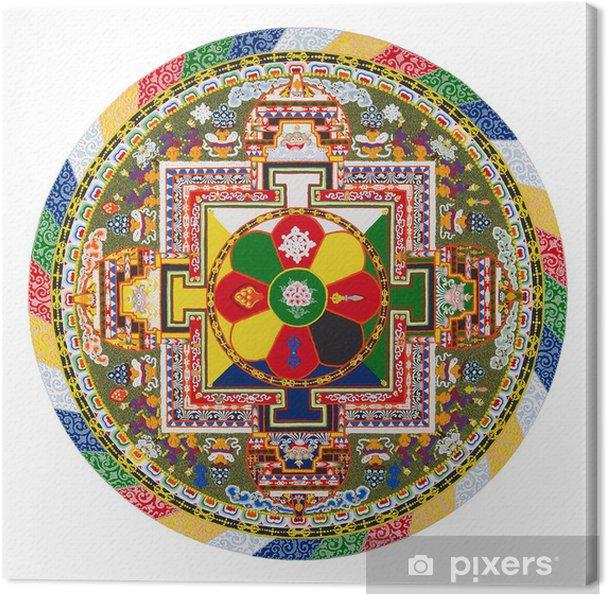 Obraz na płótnie Tybetańska mandala - Naklejki na ścianę