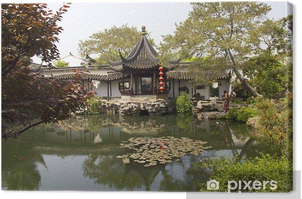 Obraz na płótnie Typowy chiński ogród, Suzhou, Chiny - Azja