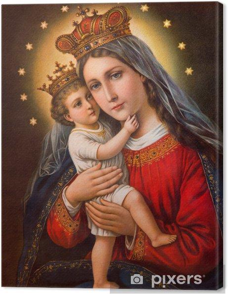 Obraz na płótnie Typowy katolik obrazu Madonny z dzieckiem - Sztuka i twórczość